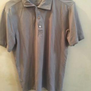 ✨ 3/$30 Van Heusen Studio Slim Fit Polo Gray Shirt